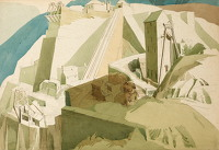 Artist Arthur Kemp: Dorothea Quarry at Nantle, nr Carnarfon, late 1940s