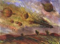 Artist Roy Turner Durrant: Space machine 1944