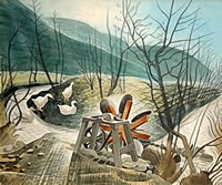 Paintings by the artist Eric Ravilious